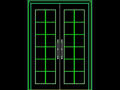 Gate block 002 gate 86 free download autocad blocks for Sliding glass doors cad